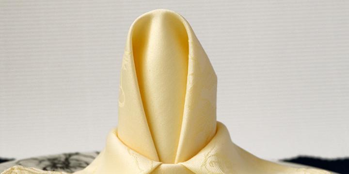 Servietten falten Anleitung Banane Video
