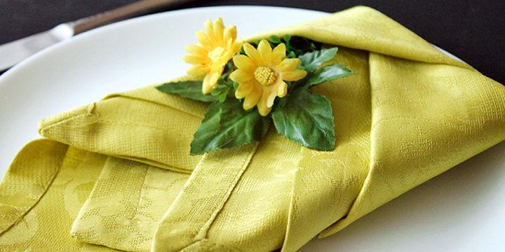 Servietten falten Anleitung Tulpe