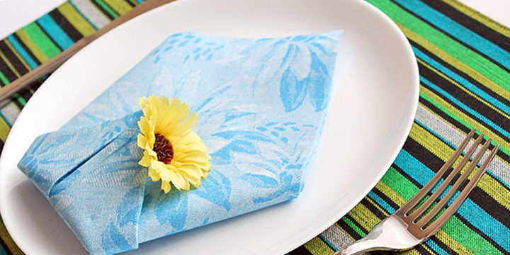 Servietten falten einfache Tulpe