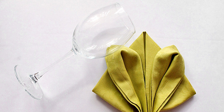 Servietten falten im Glas Video
