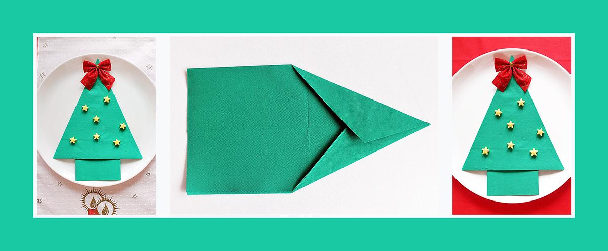 servietten falten anleitung tannenbaum zu weihnachten, Wohnideen design